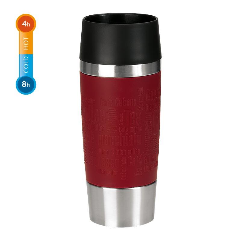 Emsa Thermobecher Travel Mug 0,36 Liter Rot