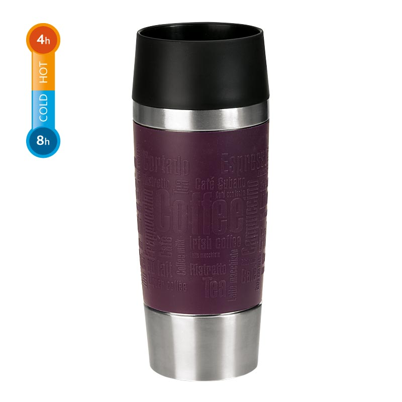 Emsa Thermobecher Travel Mug 0,36 Liter Brombeere