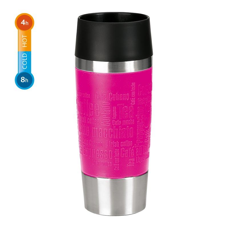 Emsa Thermobecher Travel Mug 0,36 Liter Himbeere