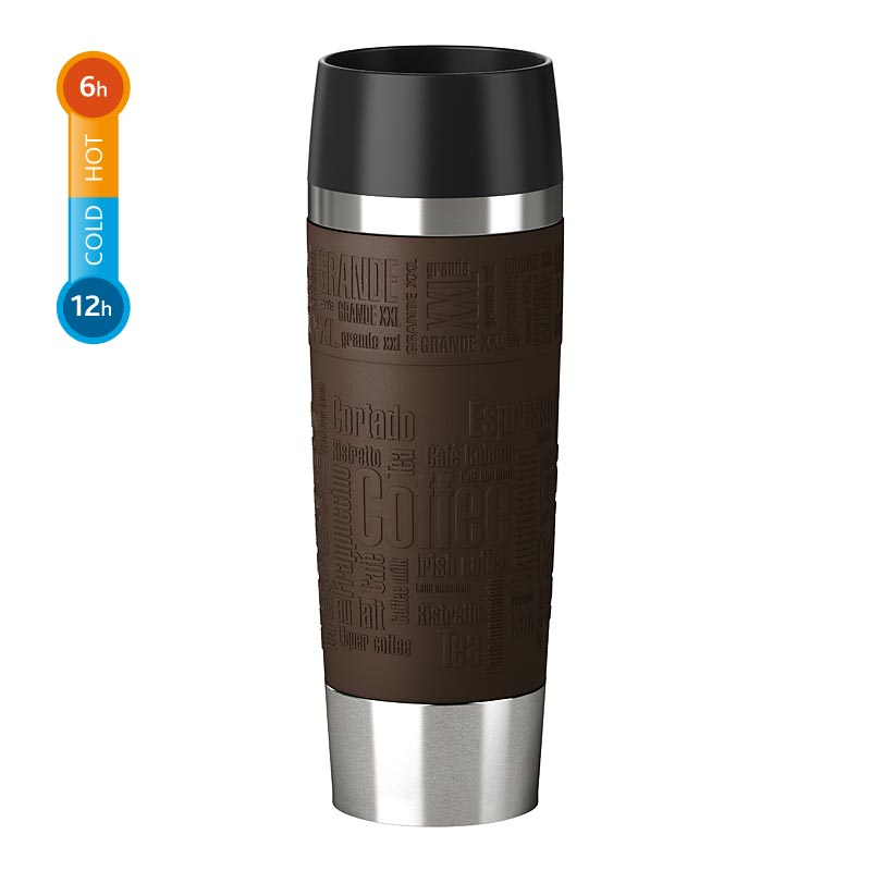 Emsa Thermobecher Travel Mug Grande 0,5 Liter Braun