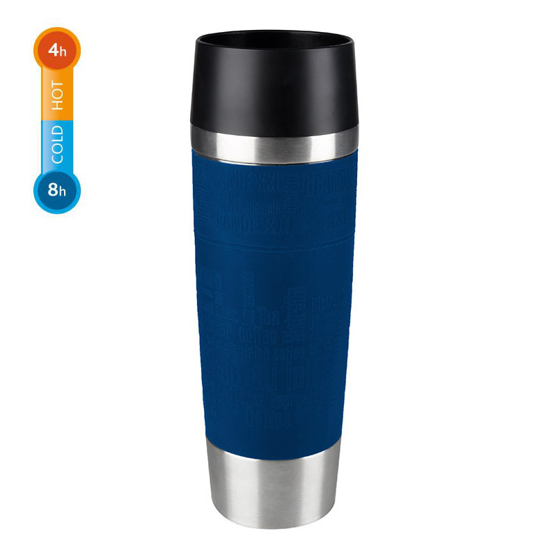 emsa travel mug grande 0 5 liter blau thermobecher isolierbecher coffee to go 4009049403762 ebay. Black Bedroom Furniture Sets. Home Design Ideas