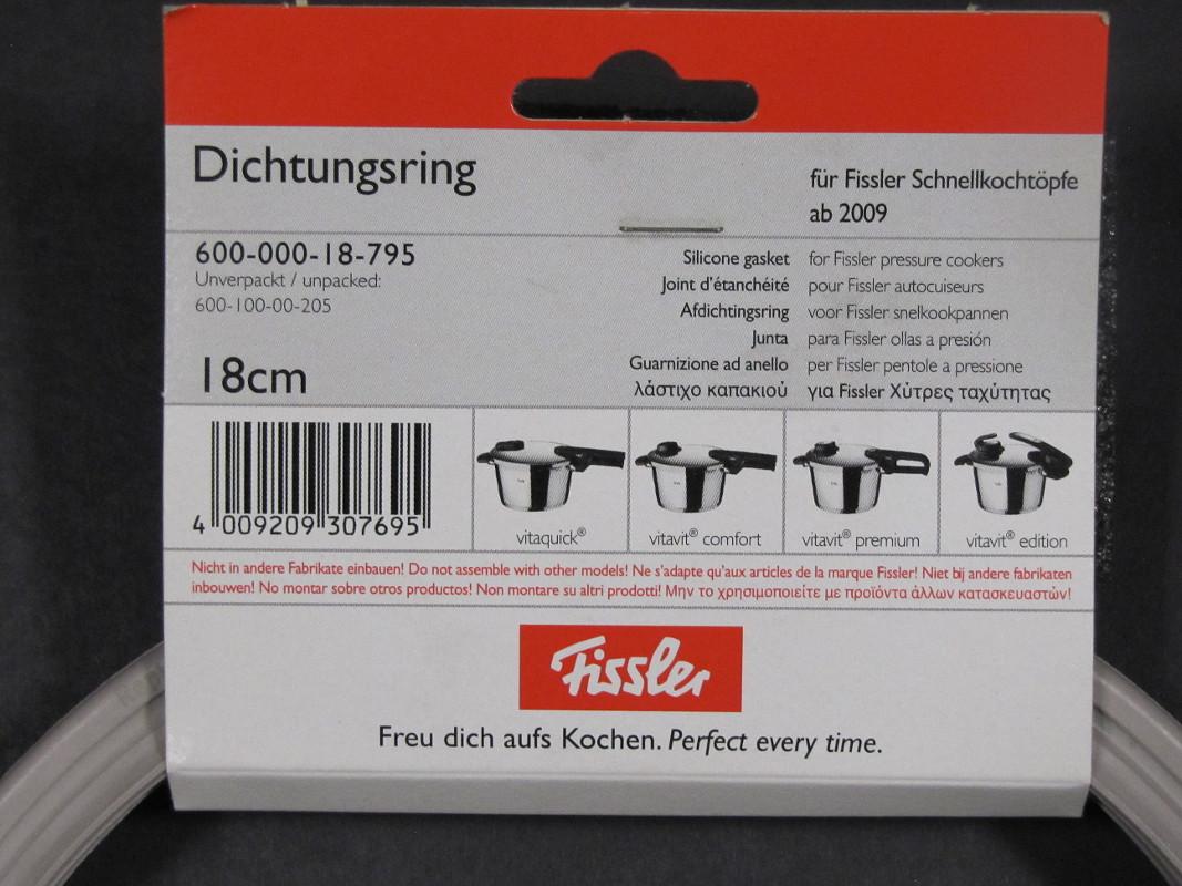 Fissler Dichtungsring für Schnellkochtopf 18 cm ab Baujahr 2009