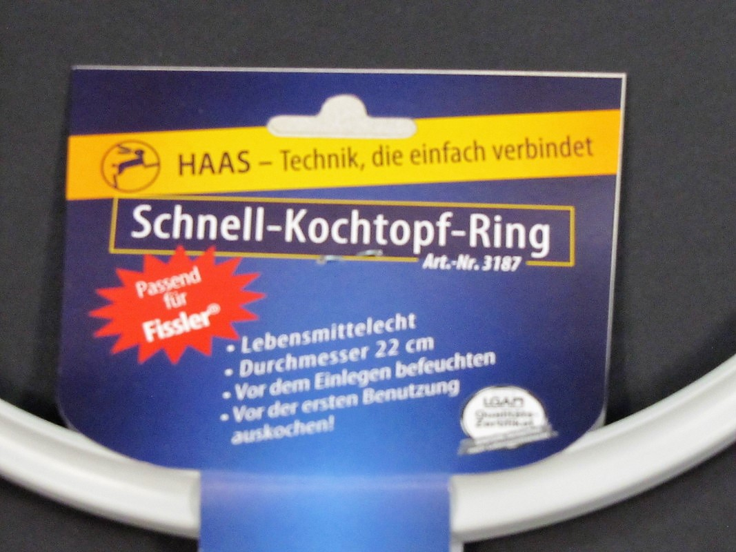 haas dichtungsring f r fissler vitavit schnellkochtopf 22 cm ring gummiring 22cm ebay. Black Bedroom Furniture Sets. Home Design Ideas