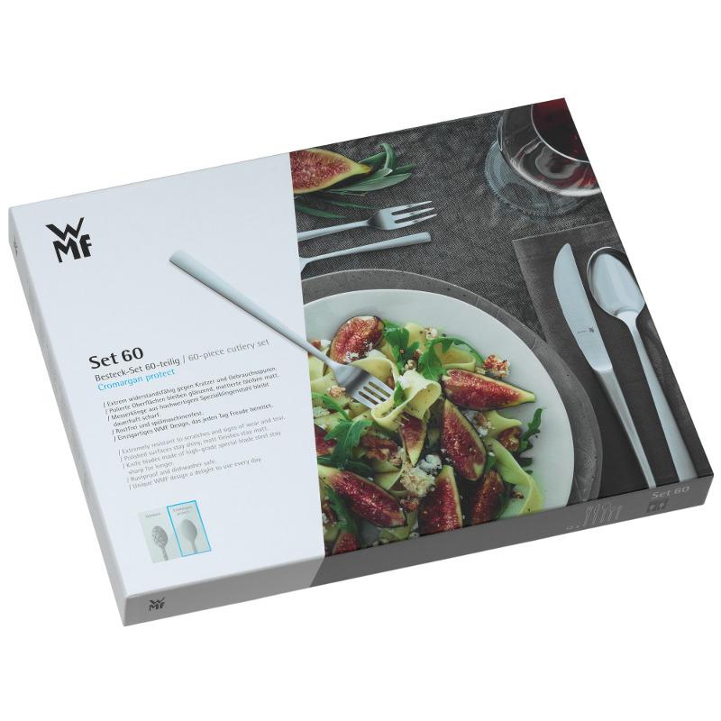 WMF Besteck Flame 60 tlg. Cromargan Protect mit Monobloc-Messer